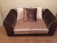 3 SEATER AND 2 SEATER CRUSHED VELVET SOFAS FOR SALE