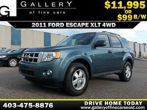 2011 Ford Escape XLT 4WD $99 Bi-Weekly APPLY NOW DRIVE NOW