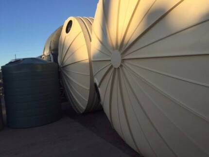 XMAS FACTORY SALE! 22,500LT Poly Water Tanks, Rainwater, Sheds