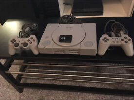 PlayStation 1 with 2 controllers