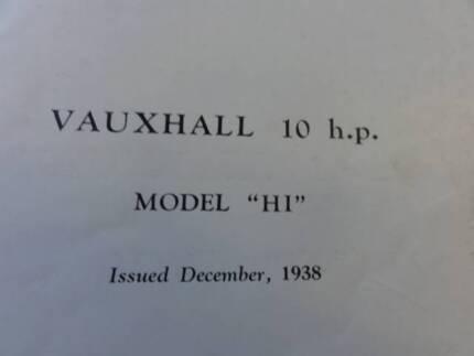 VAUXHALL H & I 10 & 12HP   WORKSHOP MANUAL c1939-1949 Dianella Stirling Area Preview