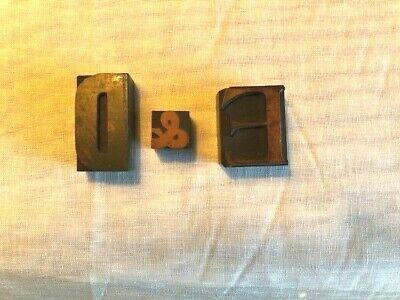 Vintage Wood Printing Blocks