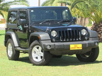 2015 Jeep Wrangler JK MY2015 Sport Black 6 Speed Manual Softtop Hendon Charles Sturt Area Preview