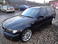 BMW 320D ES TOURING 150~03/2003~MANUAL~ESTATE~TURBO DIESEL~METALLIC BLACK