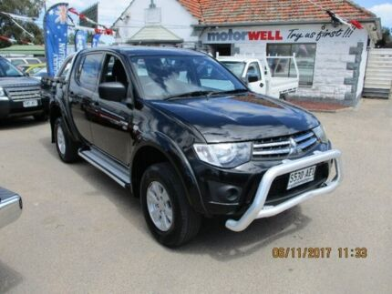 2009 Mitsubishi Triton MN MY10 GL-R Double Cab Black 5 Speed Manual Utility Gepps Cross Port Adelaide Area Preview