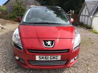 Peugeot 5008 Hdi 112 Exclusive 2011 97000 miles. Spacious 7 seater estate. Good condition. One owner
