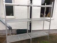 Aluminium shelving
