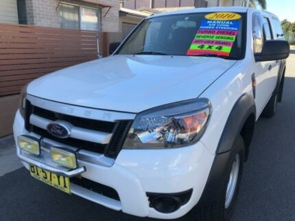 2010 Ford Ranger PK XL (4x4) White 5 Speed Manual Dual Cab Pick-up Waratah Newcastle Area Preview