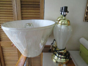 (2) Lamps with (2) Brand New Shades