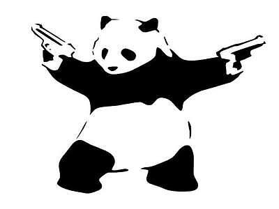 Panda vinyl car Decal / Sticker