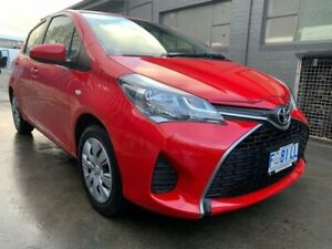 2016 Toyota Yaris NCP130R Ascent Red 4 Speed Automatic Hatchback North Hobart Hobart City Preview