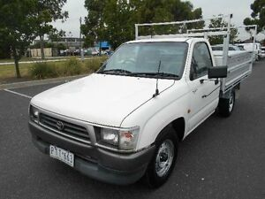 1999 Toyota Hilux RZN149R White 5 Speed Manual Cab Chassis Maidstone Maribyrnong Area Preview
