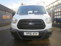 2016 Ford Transit 350 2.2TDCi 125ps L3 D/Cab 7Seat Tipper Diesel white Manual