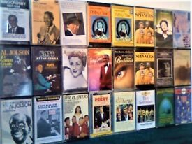 FAMOUS FAMILIAR FACES OF 1940s 1950s 1960s HAVE THIS LOT FOR ONLY £10 ! PRERECORDED CASSETTE TAPES.