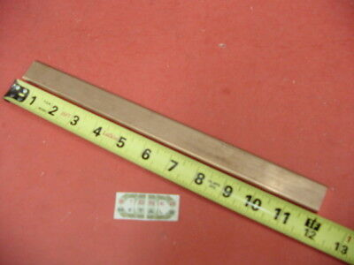 Round Edge 14x 1 C110 Copper Bar 12 Long Solid Flat Mill Bus Bar Stock H02