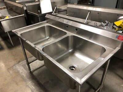 Rigidbilt Stainless Steel Double Bowl Sink 59 X 30 Overall