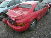 TOYOTA MR2 MR-2 DRIVER SIDE REAR QUARTER GLASS BREAKING FOR SPARES
