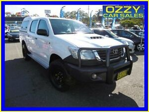 2012 Toyota Hilux KUN26R MY12 SR (4x4) White 5 Speed Manual Dual Cab Pick-up Penrith Penrith Area Preview