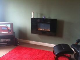 Granite Wall Hanging Gas Fire Place