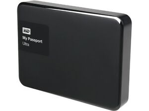 WD 2TB Black My Passport Ultra Portable External Hard Drive - USB 3.0 - WDBBKD00