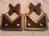 2 Sets Of Engineering Vee Blocks