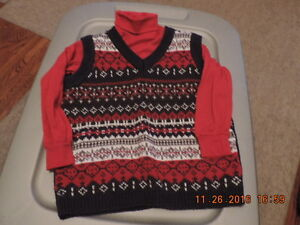 Boy's Size 4T Knit Vest and Turtle Neck London Ontario image 1