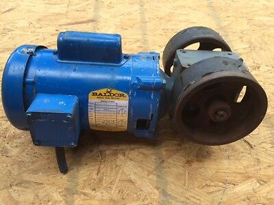 14 Hp Baldor Motor 115208 230 1725 Rpm W Boston Gear Box Kl1203 56c Frame