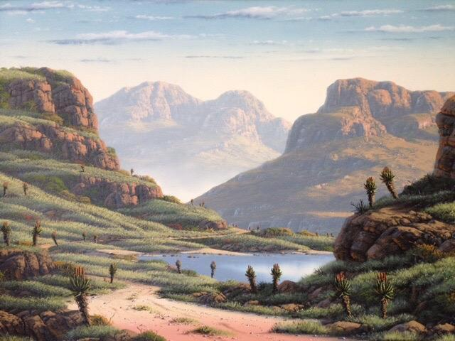 South African Landscape Oil Paintings Oil Painting South African