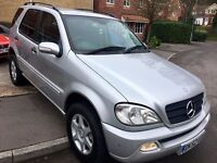 LPG Converted Mercedes Benz ML320 Auto Petrol 5 seater - Part Exchange with MOT til 26/4 hence price