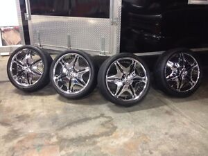 24' Chrome tires with Nitto rubber