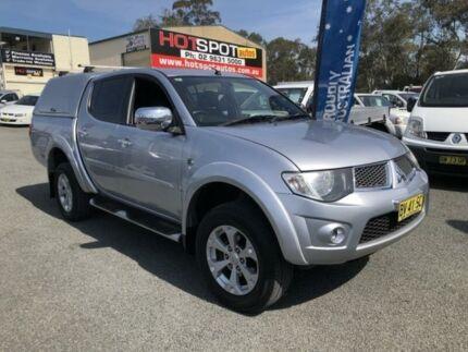 2013 Mitsubishi Triton MN MY14 GLX-R Silver 5 Speed Automatic 4D UTILITY Greystanes Parramatta Area Preview