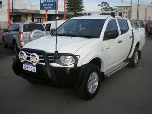 2011 Mitsubishi Triton MN MY11 GL-R White 4 Speed Automatic Double Cab Utility Victoria Park Victoria Park Area Preview