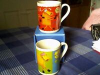 2 ANCHOR BUTTER MUGS CELEBRATING 75 YEARS - NEW / UNUSED
