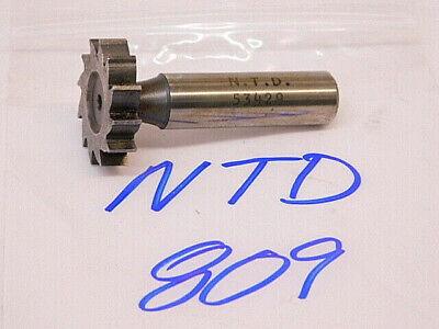 Used Ntd Straight Tooth Woodruff Keyseat Cutters 809 1-18 X 14 X 12