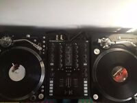 Pair of Audio Technica AT-LP1240-USB Professional turntables & TRAKTOR Z2 mixer