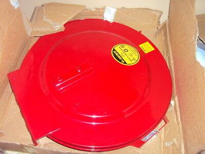 Self Closing Drum Cover - JUSTRITE 26730 Drum Cover, Self Closing, 30 Gal, Fire Safe