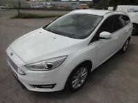 LHD 2014 Ford Focus 1.6TDCI Titanium 115BHP 5 Door Estate 6 Speed UK REGISTERED