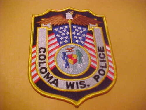 COLOMA WISCONSIN POLICE PATCH SHOULDER SIZE UNUSED