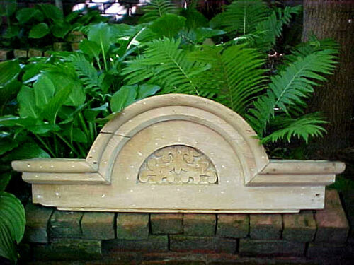 ANTIQUE DETROIT VICTORIAN WINDOW HEADER PEDIMENT TOPPER SHABBY CHIC ARCHITECTURE