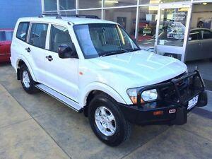 2001 Mitsubishi Pajero NM GLX Dakar LWB (4x4) White 5 Speed Auto Sports Mode Wagon Hobart CBD Hobart City Preview