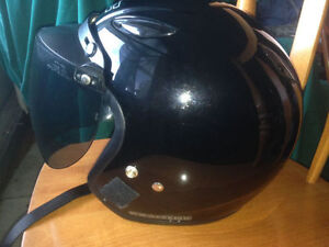 HJC CS-5 open face helmet.   Tinted visor is in good condition.