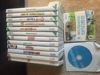 Nintendo Wii games console and accessories