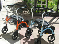 Two Evolution Expresso Side-Folding Rollators Walkers For Sale