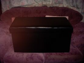 Leather Covered Storage Chest/Seat