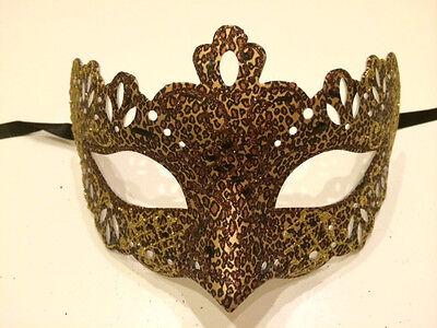 Leopard Venetian Masquerade Costume Ball Prom Dance Party Wedding Mask Unisex (Leopard Masquerade Masks)