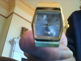 NEW ladies gold coloured watch made by Labarre, unworn, NEW battery fitted