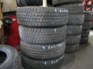 265/70 R17 GOODYEAR WRANGLER USED TIRES (SET OF 4) - APPROX. 90% TREAD
