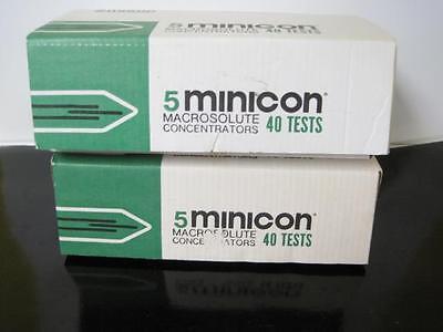 Lot Of 8 Amicon Minicon Macrosolute Concentrators 62 Test B15 Ce3901 New Rare
