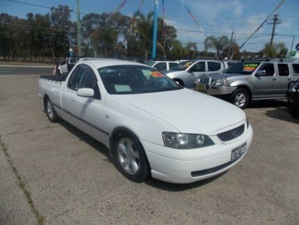 2003 Ford Falcon BA XLS White 4 Speed Automatic Utility Cabramatta Fairfield Area Preview