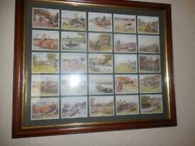 JOHN PLAYER CIGARETTE COUNRTY SPORTS 1930 Framed